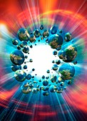Multiverse, conceptual illustration