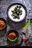 Bhindi raita (Oka raita)