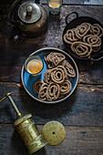 Indian rice and lentil murukku