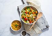 Sweet corn, paneer and vegetable salad