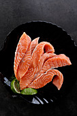 Pieces of fresh salmon
