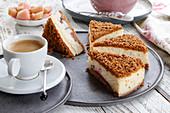 Cheesecake with rhubarb