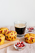 Turmeric and cranberry muffins