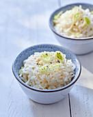 Rice with leek