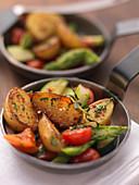 Kartoffelgröstl mit Gemüse