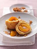 Apricot dumplings with breadcrumbs