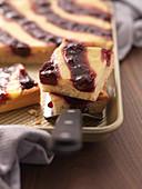 Vanilla and cherry cake