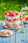 Trifle with melon
