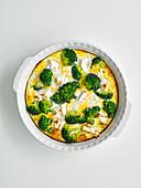 Feta and broccoli frittata