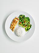 Quick miso cod with edamame salad