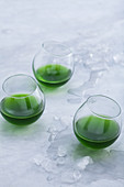 Green chlorella vodka with a hint of hay