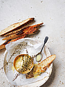 Baked vacherin with thyme