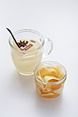 Ginger tea and preserved ginger