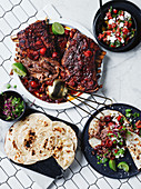 Spicy lamb ribs in smoked chilli and black bean sauce