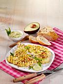 Gegrillter Blumenkohl mit Avocadosauce