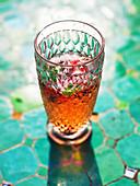 A glass of berry lemonade