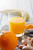 Ginger orange smoothie with turmeric