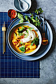 Coconut curry soup with noodles