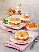 Apricot shortcakes