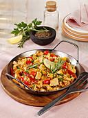 Iberische Hähnchen-Reis-Pfanne