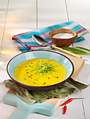 Fiery Caribbean banana soup