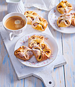 Apple and carrot turnovers
