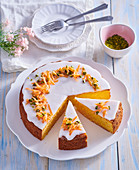 Easter carrot pie