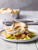 Vegetable gratin with courgette