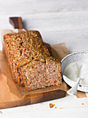 Nut meatloaf with cauliflower sauce