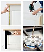 Holztisch zum Couchtisch umgestalten und mit Brandmalerei verzieren