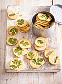 Almond cookies with herbs