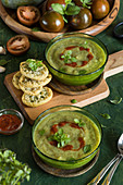 Spicy zucchini soup