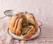 Yeast cake with poppy seed filling