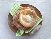 Ausgezogne (Bavarian doughnuts) on a plate