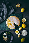 Lemon Japanese cotton cheesecake