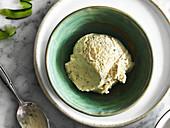 Cucumber ice cream with mint