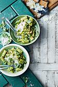 Super greens pesto pasta