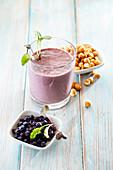 Blueberry peanut smoothie