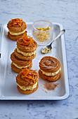 Zimt-Cookie-Sandwiches mit Orangeneis