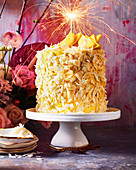 Mango lamington layer cake