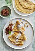 Pancakes with homemade chocolate spread