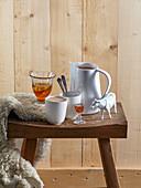 Hot drinks (hot chocolate, hunting tea - Jagertee)