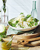 Cabbage and pea slaw