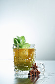 Basil Cocktail with star anise