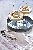 Mandarin cream with whipped cream