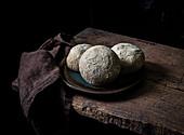 Cottage cheese stuffed masala buns