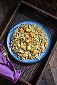 Vegetable and paneer pilaf