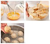 Bread dumplings being made (German Voice Over)
