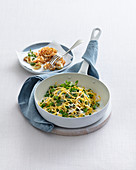 Tagliolini risotto with broad beans