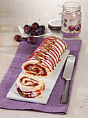 Plum roulade with ginger